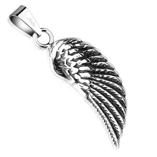 Pendant angel wing silver made of stainless steel unisex