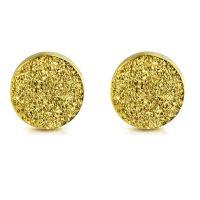 Ohrstecker rund 5 mm goldfarben aus Edelstahl Damen