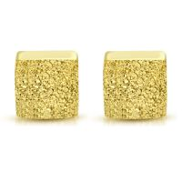 Ohrstecker quadratisch 4 mm goldfarben aus Edelstahl Damen