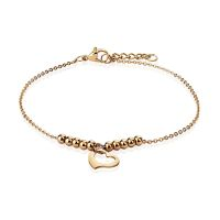 Charm bracelet heart & balls rose gold made of...