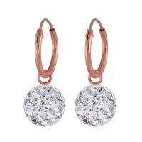 Creolen Kristall-Charm aus 925 Silber Damen