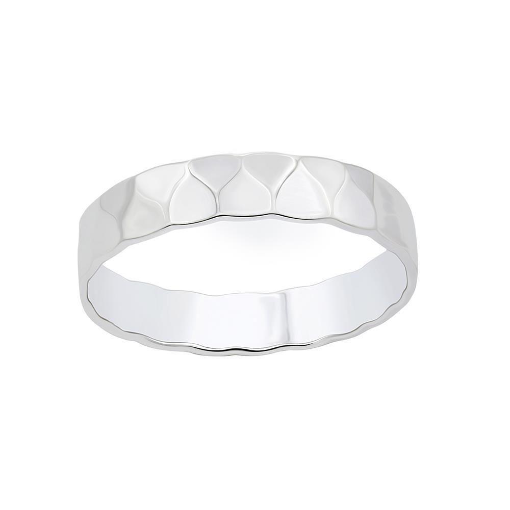 Ring gehämmert aus 925 Silber Damen