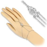 Hand chain vintage ornament silver brass ladies