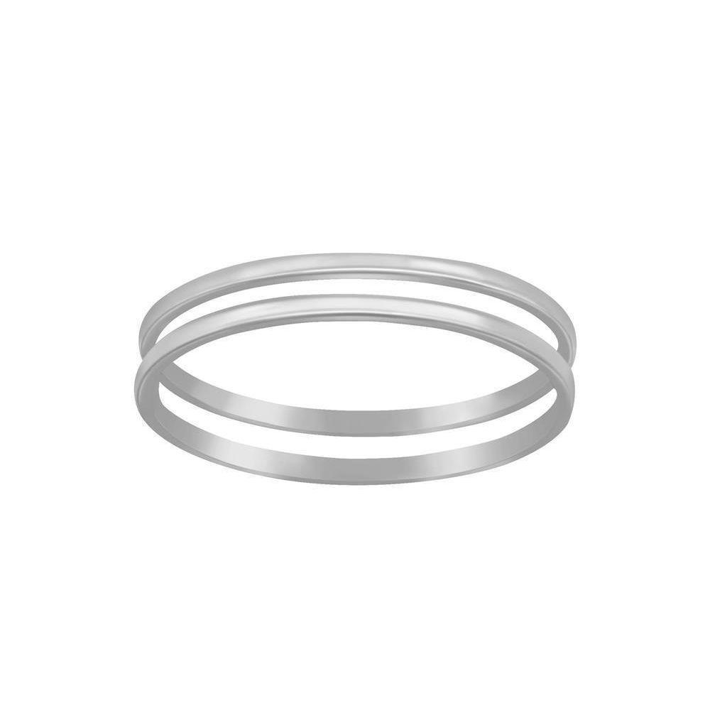 Ring mit doppelter Ringschiene aus 925 Silber Damen 54 (17,2)