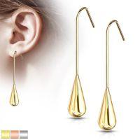 Ohrhänger Tropfen aus Edelstahl Damen rosegold