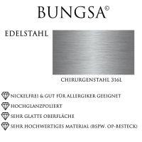 Ring mit schwarzem Zierstreifen silber aus Edelstahl Unisex
