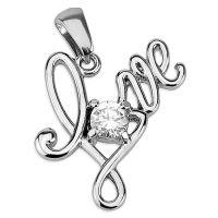 Anhänger Love Silber aus Edelstahl Unisex