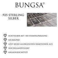 Ohrstecker Zuckerstange aus 925 Silber mit Kristall...