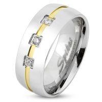 52 (16.6) Bungsa© Ring silber mit 3 Steinen &...