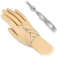 Hand chain tears silver brass ladies