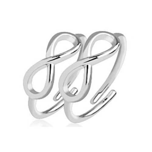 Zehenring Infinity Silber Messing Unisex