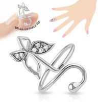 Toe ring butterfly silver brass unisex