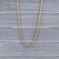 Gold chain woven from stainless steel unisex
