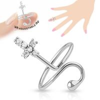 Toe ring cross silver brass ladies