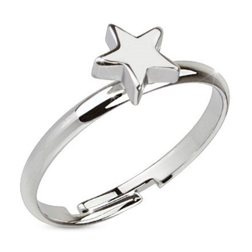 Toe ring classic silver brass unisex