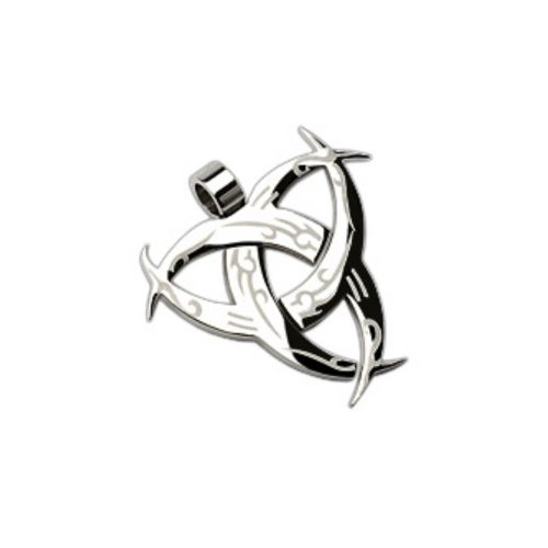 Pendant Tribal silver made of stainless steel unisex