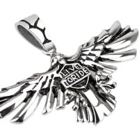 Pendant eagle with Live to Ride silver made of stainless...