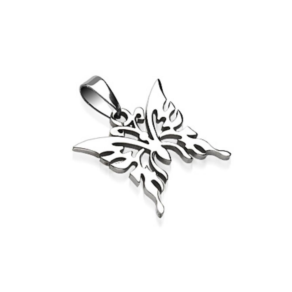 Anhänger Schmetterling Silber aus Edelstahl Unisex