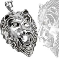UPDATE pendant lion silver made of stainless steel unisex