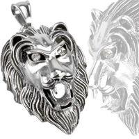 Anhänger Löwen Silber aus Edelstahl Unisex