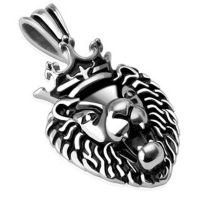Pendant Lion King silver made of stainless steel unisex