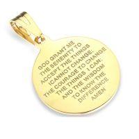 Anhänger Heilige Maria Gold aus Edelstahl Unisex