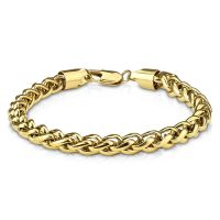 Bracelet chain links round gold made of stainless steel...
