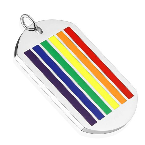 Rainbow Multicolored Pendant made of stainless steel unisex