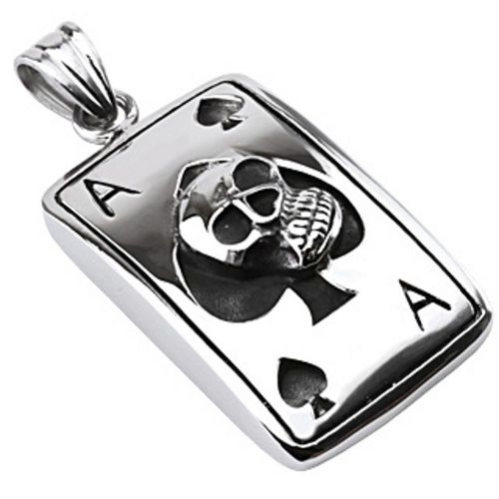 Pendant skull ass silver made of stainless steel unisex