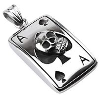 Pendant skull ass silver made of stainless steel unisex