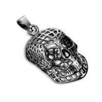Pendant skull silver made of stainless steel unisex