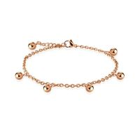 Charm bracelet beads & charms rose gold made of...