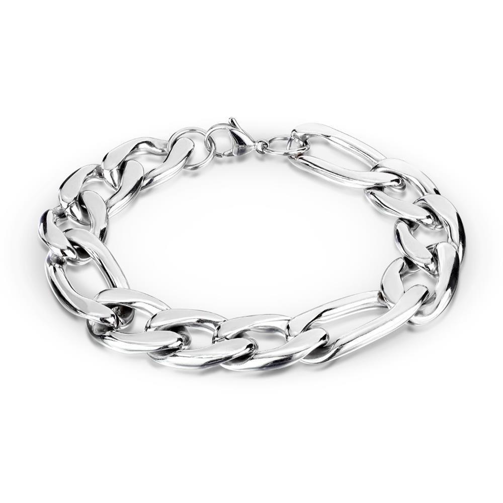 Armband massiv Silber aus Edelstahl Herren