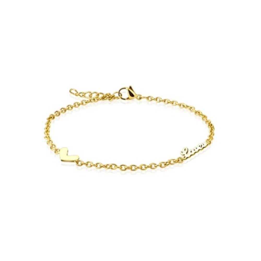 Armband Love Charm Gold aus Edelstahl Unisex