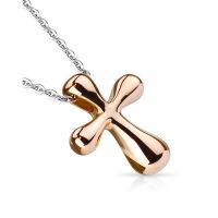 Chain with cross in stainless steel women
