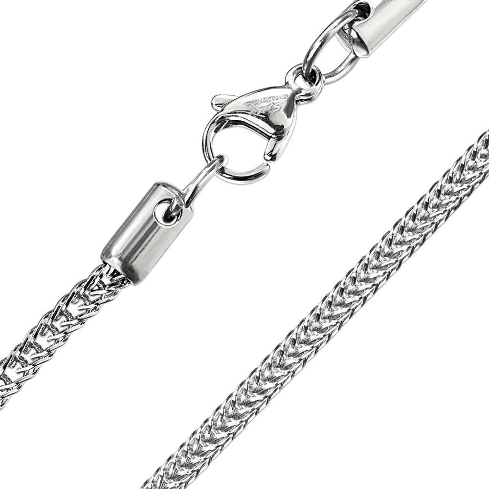 Kette Schlangenglieder Silber aus Edelstahl Unisex