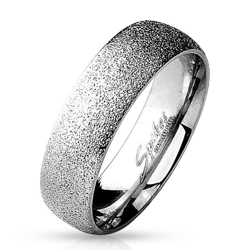 Ring diamond look silver made of stainless steel women