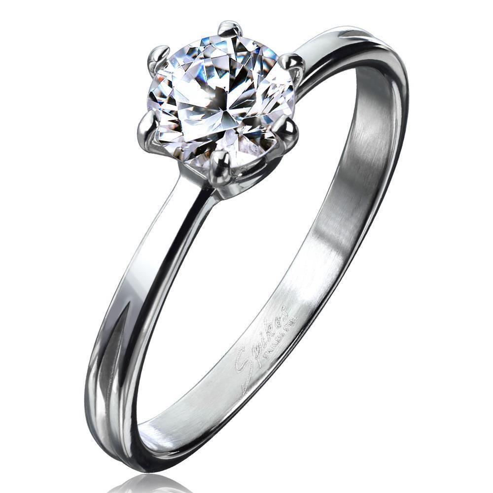 Ring klassisch schmal Silber aus Edelstahl Damen
