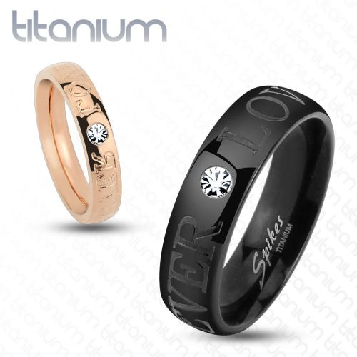 Ring Paare Forever Love Rosegold Titan Unisex