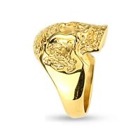 Ring skull solid gold made of stainless steel men