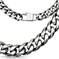 Byzantine chain solid 10mm wide silver made of stainless...