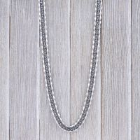 Byzantine chain solid 10mm wide silver made of stainless steel men