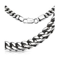 Byzantine chain woven solid silver made of stainless...