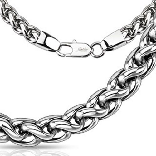 Chain kinky links silver made of stainless steel unisex
