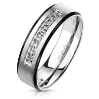 49 (15.6) Ring Paare Silber mit schwarzen...