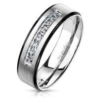 60 (19.1) Ring Paare Silber mit schwarzen...