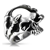 67 (21.3) Dragon Claw Skull Ring Stainless Steel Silver...