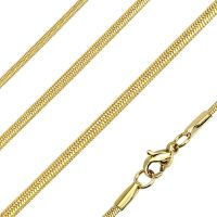 Chain round snake links gold made of stainless steel unisex