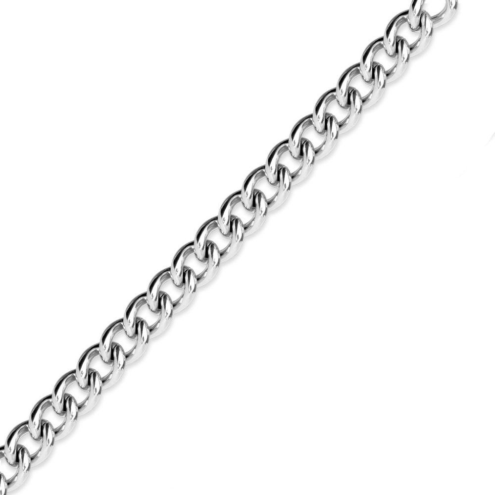 Kette klassisches Design Silber aus Edelstahl Unisex